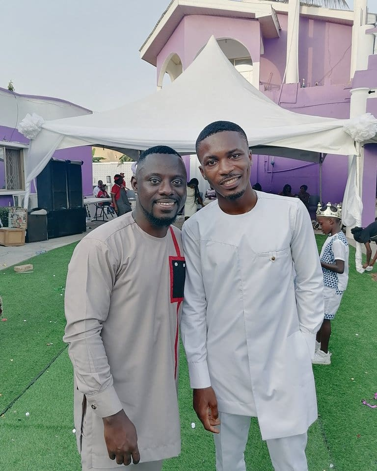 Clemento Suarez and Lawyer Ntim at Marriage Ceremony