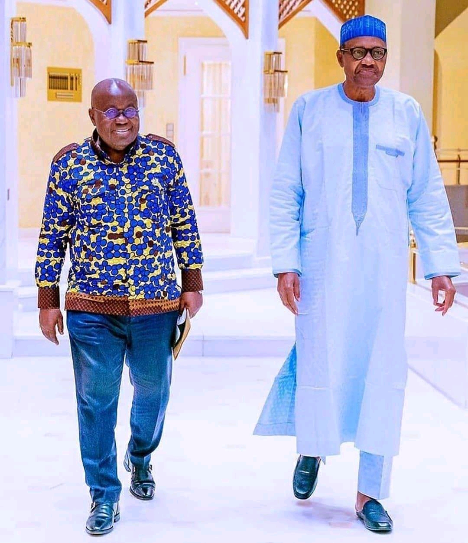 Akufo-Addo and Buhari meet up in Nigeria