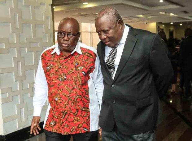 President Akufo-addo and former Special Prosecutor, Mr. Martin Amidu
