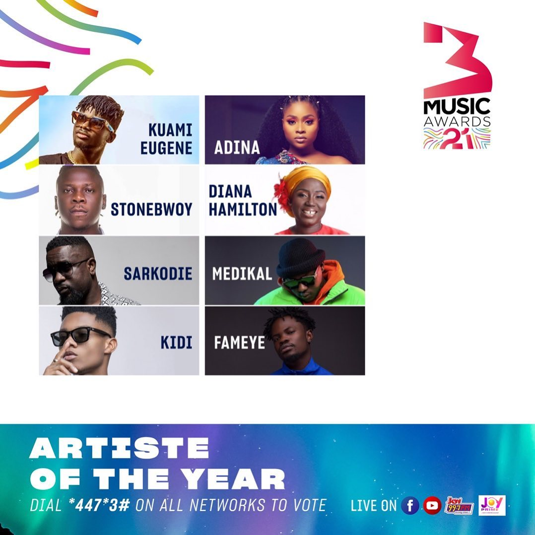 3Music Awards 2021 Artiste Of The Year