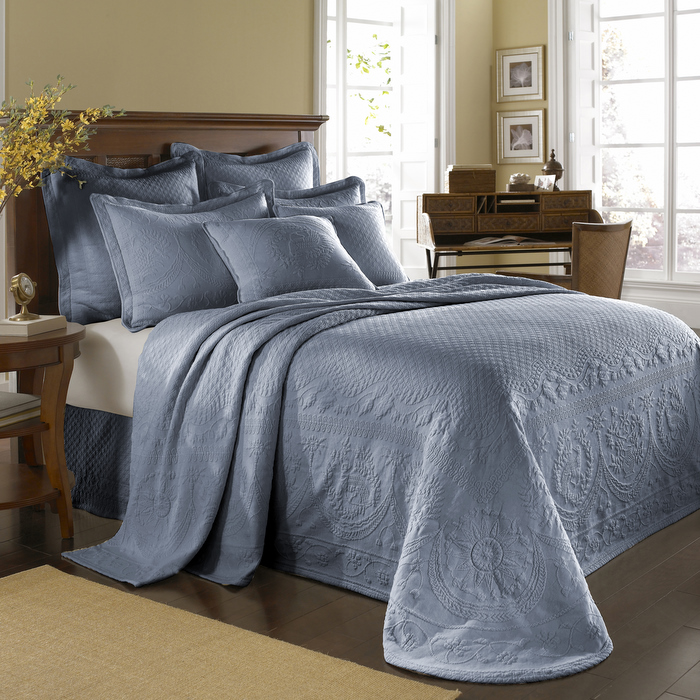 Powder Blue King Charles Bedspread And Coverlet Bedding