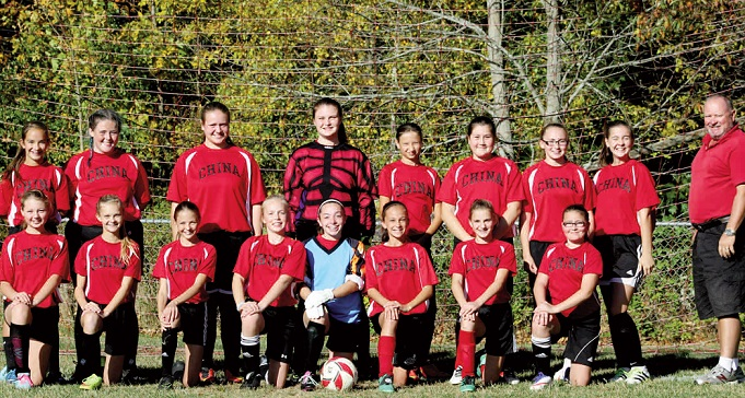 China girls soccer team