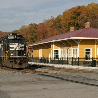Depot with Train