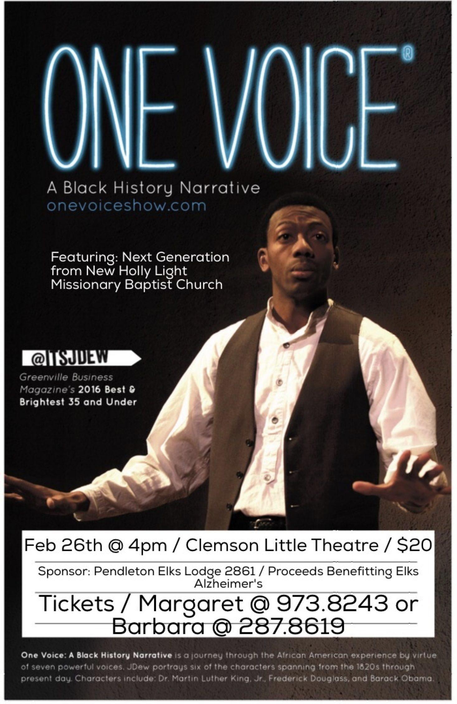 One Voice A Black History Narrative