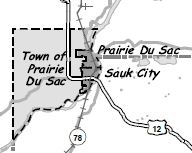 Town of Prairie Du Sac and villages