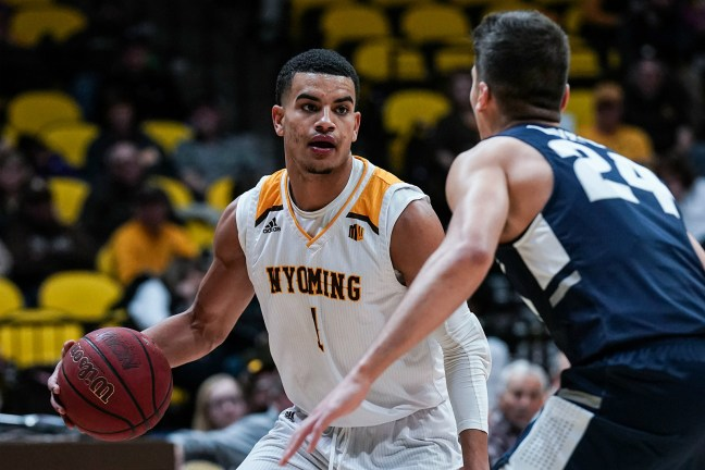 Image result for Wyoming Cowboys vs Utah State Aggies College Basketball 2019