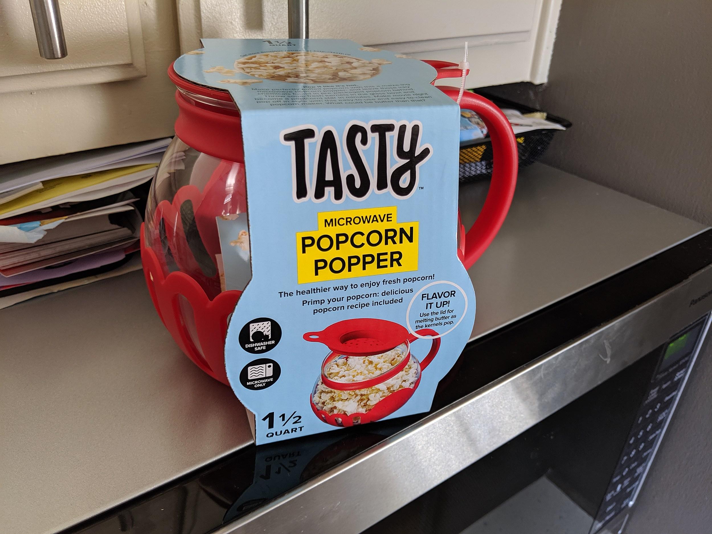the tasty brand microwave popcorn popper