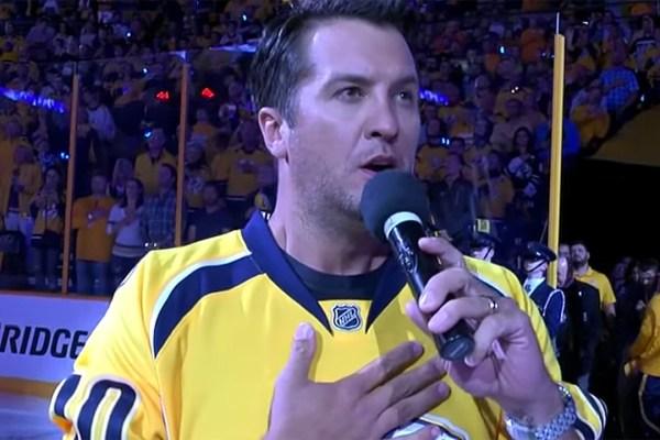 Luke Bryan Sings National Anthem Ahead Of Predators Game