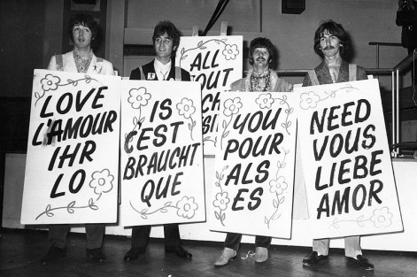 """Image result for all you need is love beatles"""""""