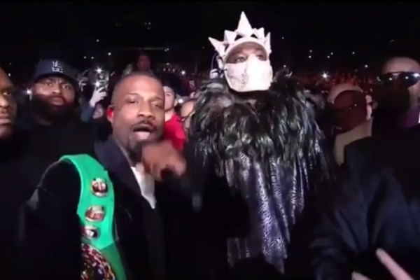 Jay Rock Walks Boxer Deontay Wilder To The Ring Performing