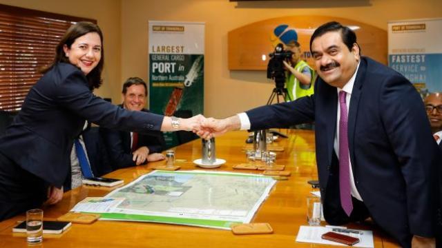 Adani coal mine Chairmen and Queensland Premier