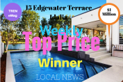 Idalia - Water edge spa pool and patio at 31 Edgewater Terrace sold by McGrath Estate Agents for $1 Million