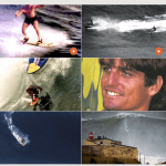 Motorized form of big-wave riding popularized in the early 1990s