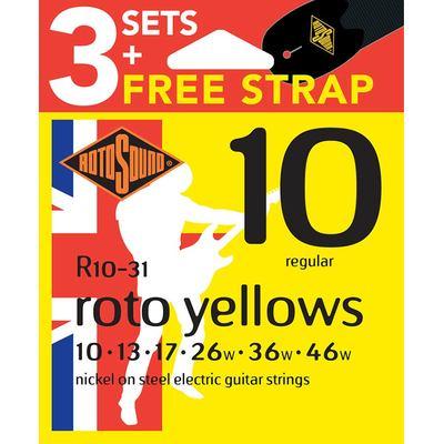 R10 guitar strings 3-pack