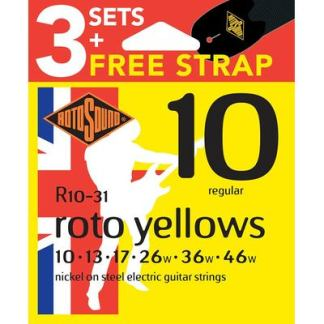 R10 guitar strings 3-pack