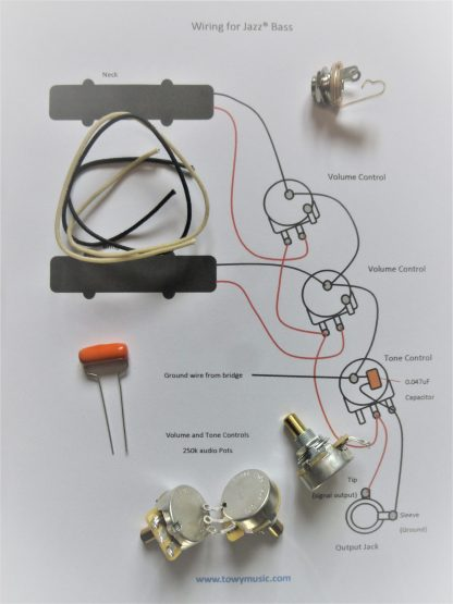 Wiring kit for J Bass