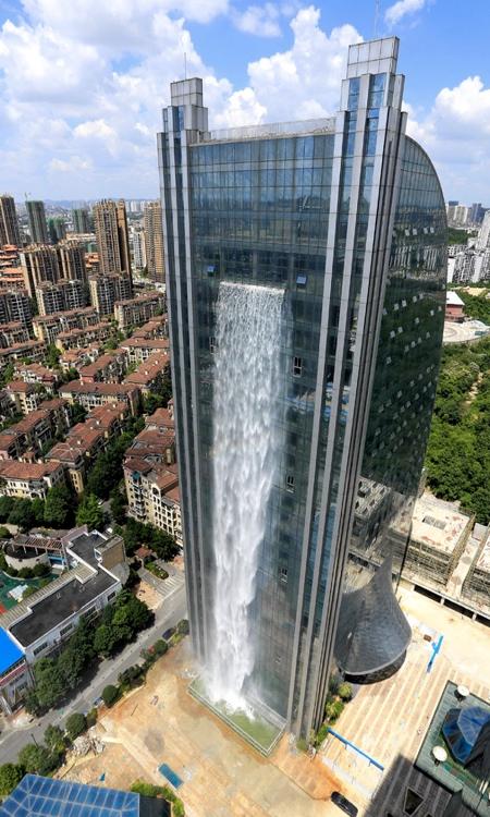 Skyscraper Waterfall In China