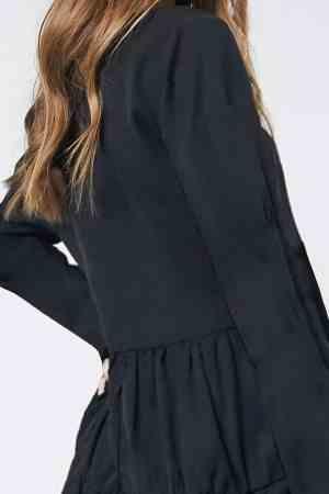 Oversized μπλουζοφόρεμα μαύρο