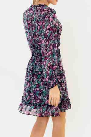 Floral κρουαζέ φόρεμα