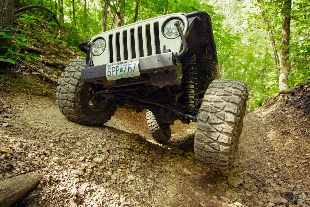 Scott Jeep making simple work of the obstacles