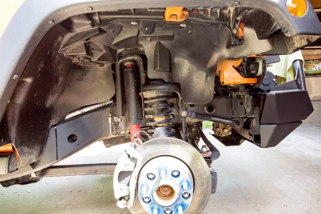 Dirty Jeep Wheel Wells