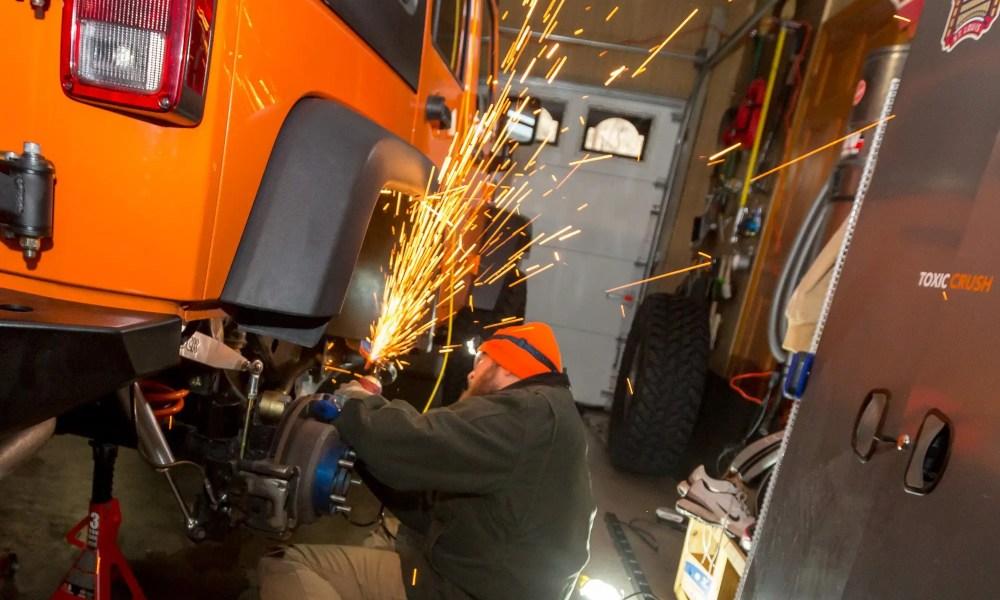 Cutting a Jeep Wrangler JK's Pinch Seam