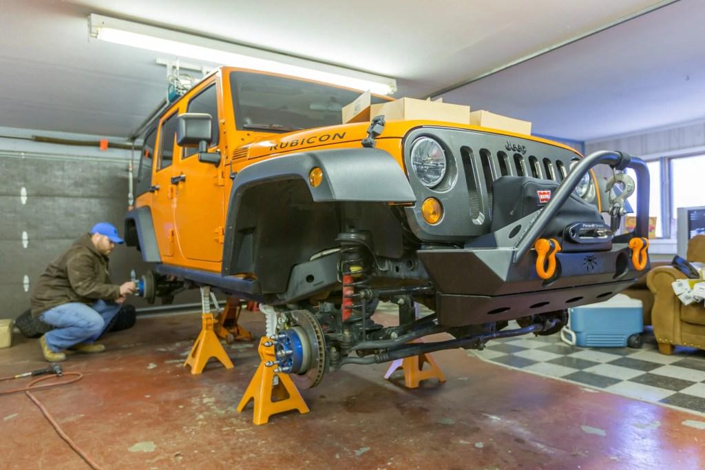 Currie Enterprises suspension install begins