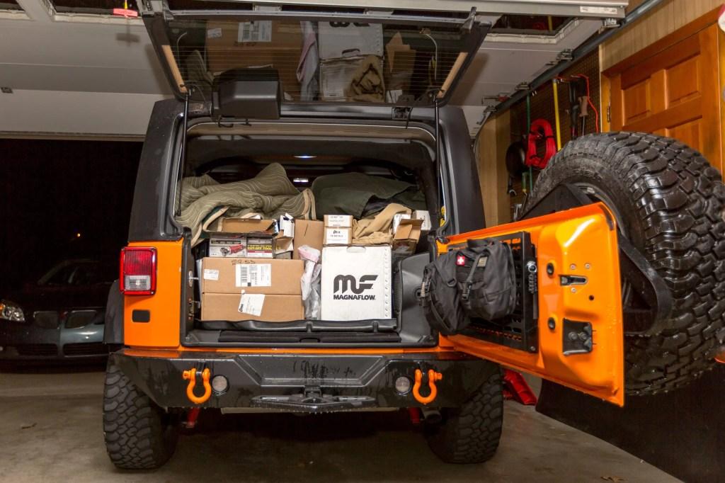 Jeep full of Currie Enterprises suspension parts