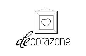 Logotipo Decorazones blanco y negro