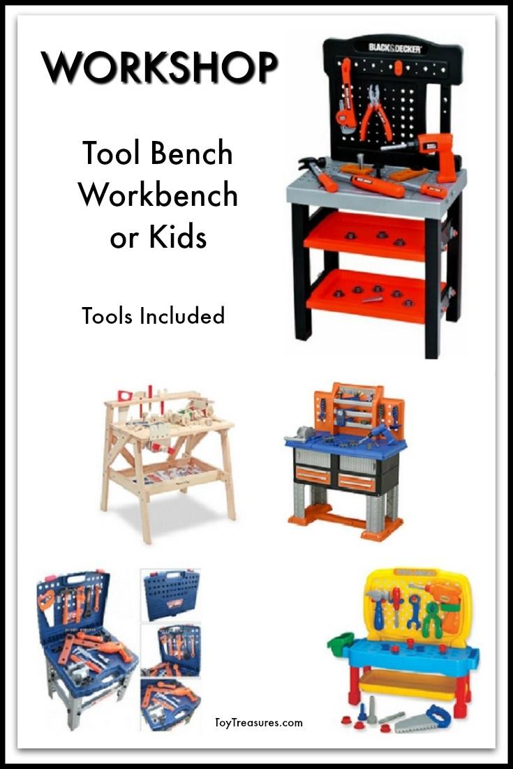 Workshop, Workbench, Tool Bench for Kids