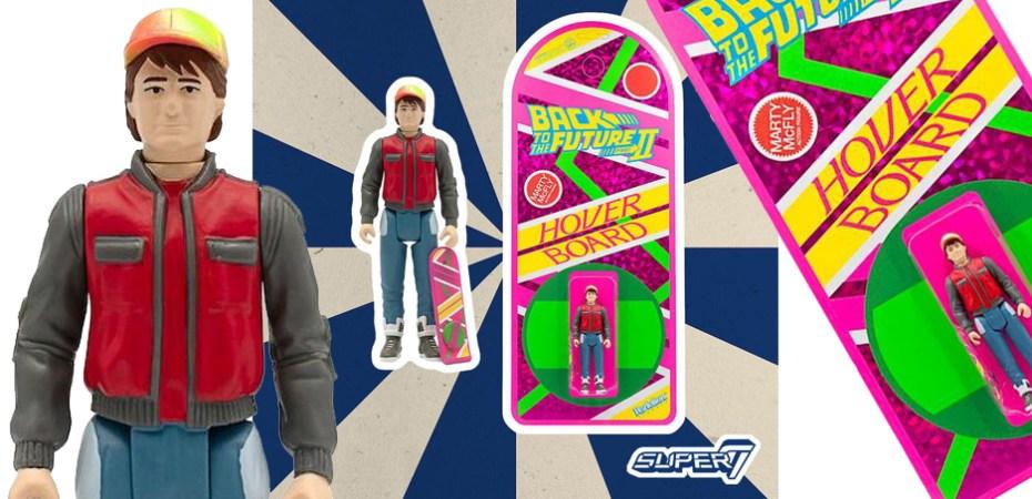San Diego comic-con 2020 Retour vers le futur Reaction figure-Marty McFly Hoverboard SUPER 7
