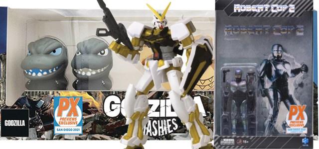 More SDCC Comic Con Pre Orders Robert Cop Gundam Astray Gold Frame & Godzilla