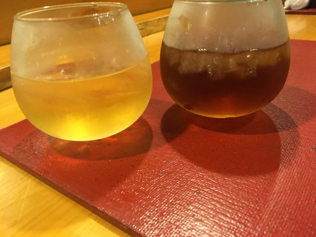 木内梅酒とウーロン茶で乾杯