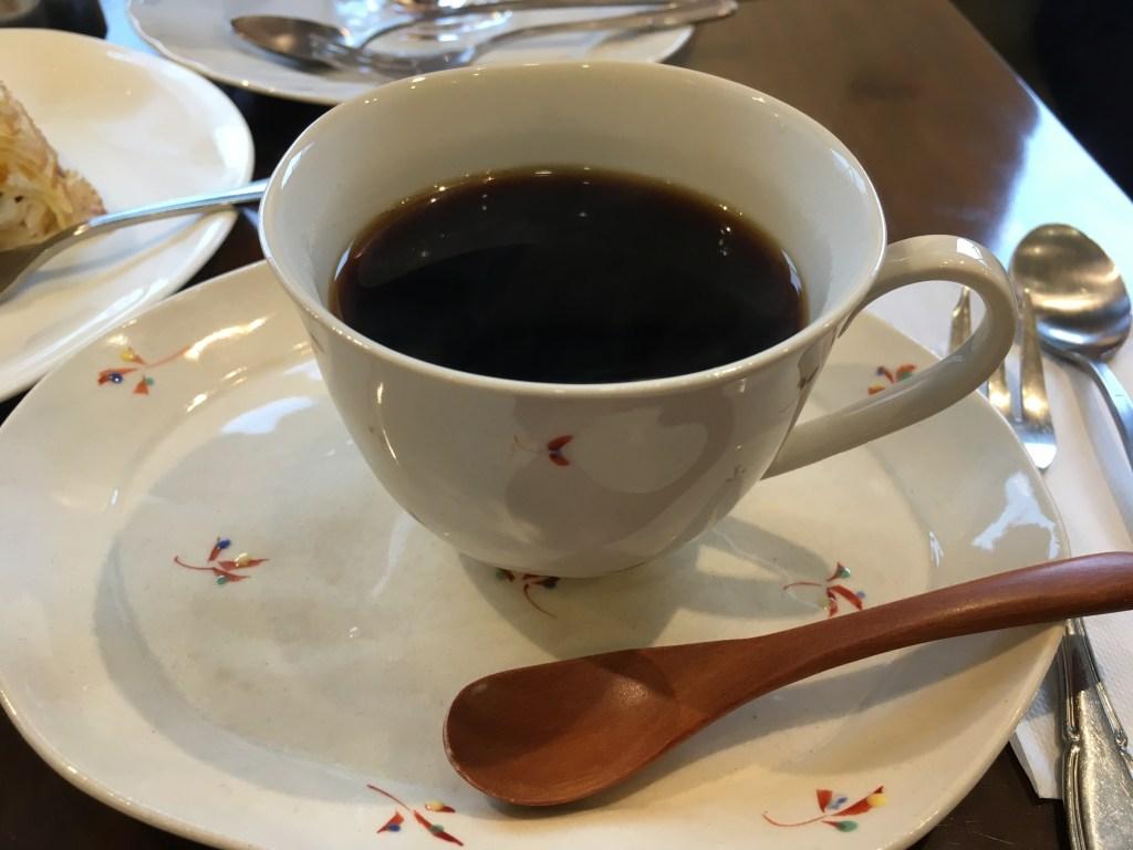 ケーキセットのコーヒー