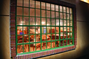 Architects Classroom through window
