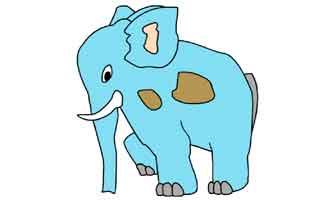 Нарисуй по точкам: Слон