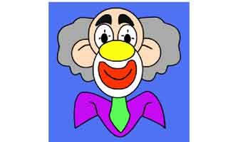 Нарисуй по точкам: Клоун