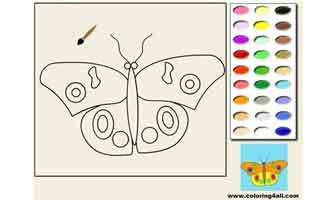 Бабочка: Раскраски для малышей
