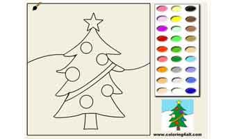 Новогодняя ёлка: Раскраски для малышей