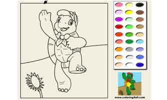 Черепаха Франклин: Раскраски для малышей