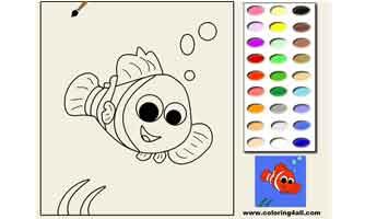 Немо: Раскраски для малышей