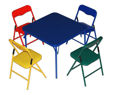Children's Folding Table & Folding Chairs Furniture Set by Bracelet Babies