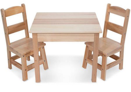 Melissa U0026 Doug Solid Wood Table And Chair Set Review