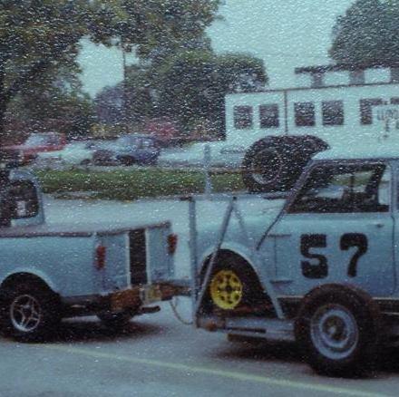 The Kimes Pickup towing the Kimes Race Car!