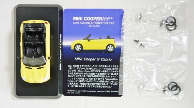 1-60 Kyosho MINI COOPER SEMI-ASSEMBLED S Cabrio YLW 11