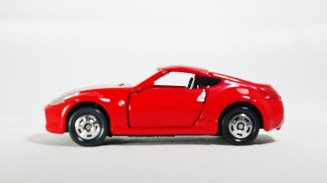 Tomica Assembly Factory Series 3 Elasto NISSAN Fairlady Z Z34 - RED Body & BLK Inter - 01