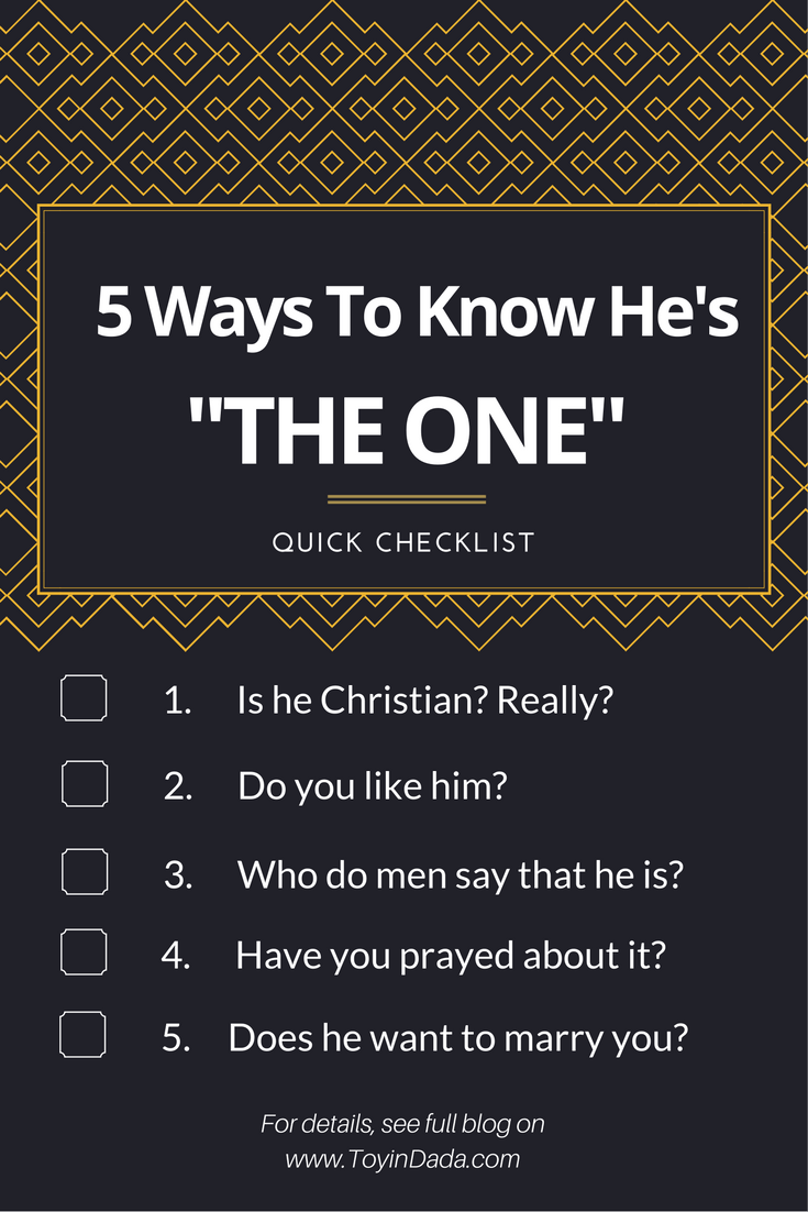 How to tell hes the one