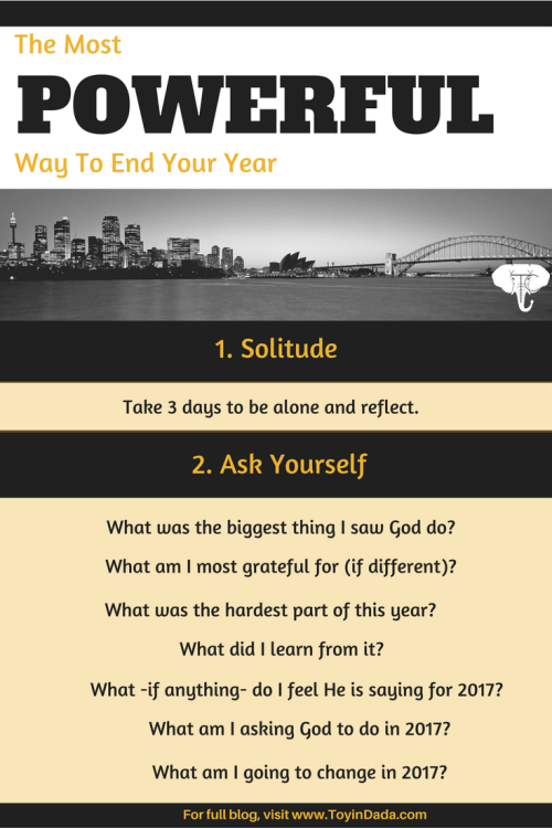 most powerful way to end your year questions