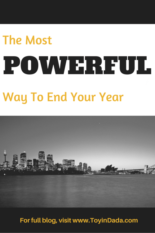 most powerful way to end year