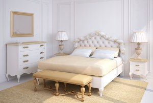 classical white bedroom